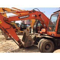 轮式挖掘机 轮式斗山150-7挖掘机 定达二手挖掘机市场-免费送货