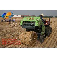 行走式玉米秸秆自拾打捆机 拖拉机带圆捆打捆机价格