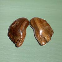 精品绿檀木雕工艺摆件 知足常乐(对) 高档礼品挂件 木制产品