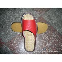 海宁室内皮拖鞋 地板拖鞋 亚麻凉拖鞋 开口拖鞋 防滑 牛筋底批发