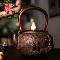 厂家晋韵堂正品老铁壶铸铁壶手工铁壶定制铁壶