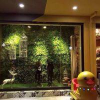 梦幻城堡仿真柳叶绿叶花藤条管道吊顶遮挡树叶阳台装饰绿萝塑料植物墙藤蔓
