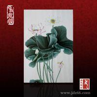 陶瓷画厂家 装饰瓷板画可自选框架 人物山水陶瓷画