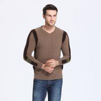 2015新款韩版男装保暖男士新品貂绒衫毛衣V字领套头长袖打底衫批