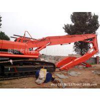 挖掘机装3段臂拆迁房屋拆楼加长臂