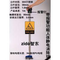液氨厂人体静电触摸消除器/消除人体静电接地柱,防爆人体静电释放报警器