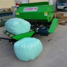 包头养牲畜用青贮打包机图片 圣嘉低价促销高效率秸秆包膜机