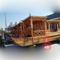 木船厂家供应景点景区水库游玩观光木船5m仿古游船服务类船