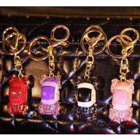 包包情侣汽车钥匙钻扣韩国小车男女士宝马mini车迷你钥匙链钥匙扣