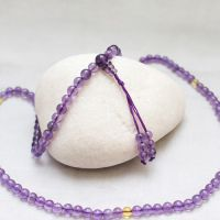 天然紫水晶108粒黄水晶隔珠佛珠念珠多层手链 新款爱的守护