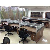 供应办公桌|现代简约钢架办公桌|员工办公桌隔断屏风