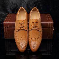 男鞋2015春季新款韩版布洛克皮鞋子时尚男鞋 潮厂家批发温州皮鞋