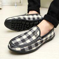 匹布特春季新款套脚鞋子时尚休闲男鞋流行帆布豆豆鞋男套脚一脚蹬
