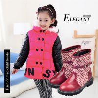 2014冬季新款童靴批发 韩版女童真皮中筒靴 儿童单靴爆款厂家直销