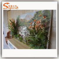 仿真植物草墙 室内绿植墙 酒店餐厅墙壁装饰画 景观墙壁设计 广州厂家直销草墙植物