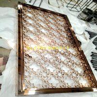 厂家直销特供屏风 镂空激光镀色屏风批发直销 爆款工艺花纹不锈钢屏风