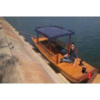 5.5米木质手划船 农用木船手划船 欧式木船 观光木船公园游玩木船