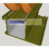 .Assemble line for?thermal break?aluminum profiles.