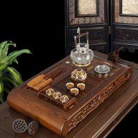 KAMJOVE/金灶KJ-9610鸡翅实木茶盘手工雕刻古典家具茶海功夫茶具
