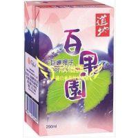 香港品牌 国内产 道地 巨峰葡萄汁饮料250mlX24支/箱 批发