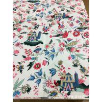 沙发餐桌布料 活性全棉印花帆布现货 全棉帆布现货