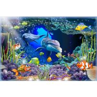 朱居家 3D海豚墙贴客厅沙发背景墙贴纸立体感创意装饰儿童房卧室海洋贴画