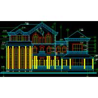 三层250平方米别墅建筑施工图(含结构、电气、给排水图 )