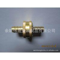 宁波工厂批发1/2〃塑料软管铜接头 黄铜快速接头