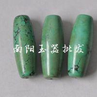 批发绿松石散珠 隔珠 圆珠 老湖北西藏绿松石散珠 绿松石批发