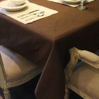 经典爆款酒店布草 棉感加厚咖啡色 咖啡店餐厅涤纶珠纹桌布 批发