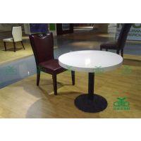 【YDL-RT116】厂家供应白根人造大理石桌面简约圆形咖啡厅