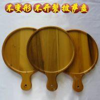 美国黄杨披萨木托盘 6至14吋水果面包板 实木蛋糕盘早餐木托盘(现货批发-厂家直供)