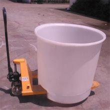 苏州包装叉车桶 带叉车底盘塑料桶 盐城车间周转桶