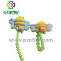 订做PVC软胶广告绕线器 专业定做塑胶广告绑线器