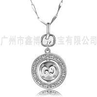 时尚饰品批发925银韩版女士吊坠广州原创首饰设计项坠