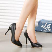 2015新款女鞋高跟鞋欧美高端大牌欧美职业性感四季款 细跟尖头鞋
