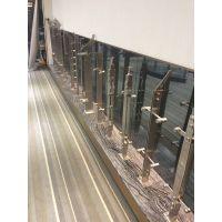 深圳栏杆扶手厂家供应 豪华高档 不锈钢 钢化玻璃扶手 立柱价格