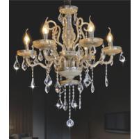 CVMA厂家直销 6970C-6A欧式水晶吊灯LED蜡烛灯奢华玉石客厅卧室餐厅吊灯白炽灯