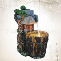 供应 风水轮流水喷泉加湿器工艺品摆设家居装饰摆件 假山鱼缸水景