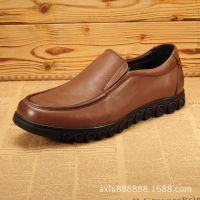 新款男式真皮正品日常商务休闲男鞋真皮鞋子时尚英伦男皮鞋套脚鞋