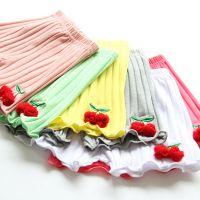 1350韩版童装 女童 樱桃果果全棉坑条短裤 热裤 Y0404-1J1