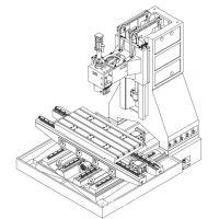 台正立式数控加工中心光机线轨L1370   全国知名品牌