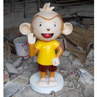 佛山迎宾卡通雕塑 名图玻璃钢雕塑图片