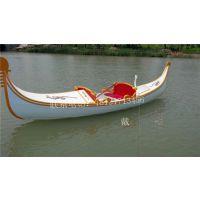 公园手划船威尼斯贡多拉船欧式木船情侣手划船景区观光客船