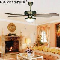 供应 波西米亚灯具时尚欧式风扇灯 创意客厅餐厅铁艺风扇灯