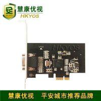 PCI-E视频采集卡 8路监控卡 全D1高清画质 悬浮窗口 小接口监控卡