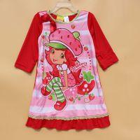 迪斯*原单外贸出口 夏季女童短袖睡衣 儿童夏天衣服睡裙