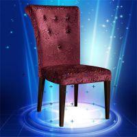 中靠背欧式布艺餐椅 酒店椅子 软包沙发椅 餐厅咖啡厅矮背椅