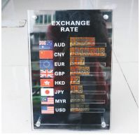 透明亚克力汇率牌 有机玻璃活动价格牌 展示广告桌牌 价签牌包邮
