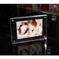 亚克力相框 10 12寸欧式创意画框 相框摆台 水晶透明直角磁铁相框